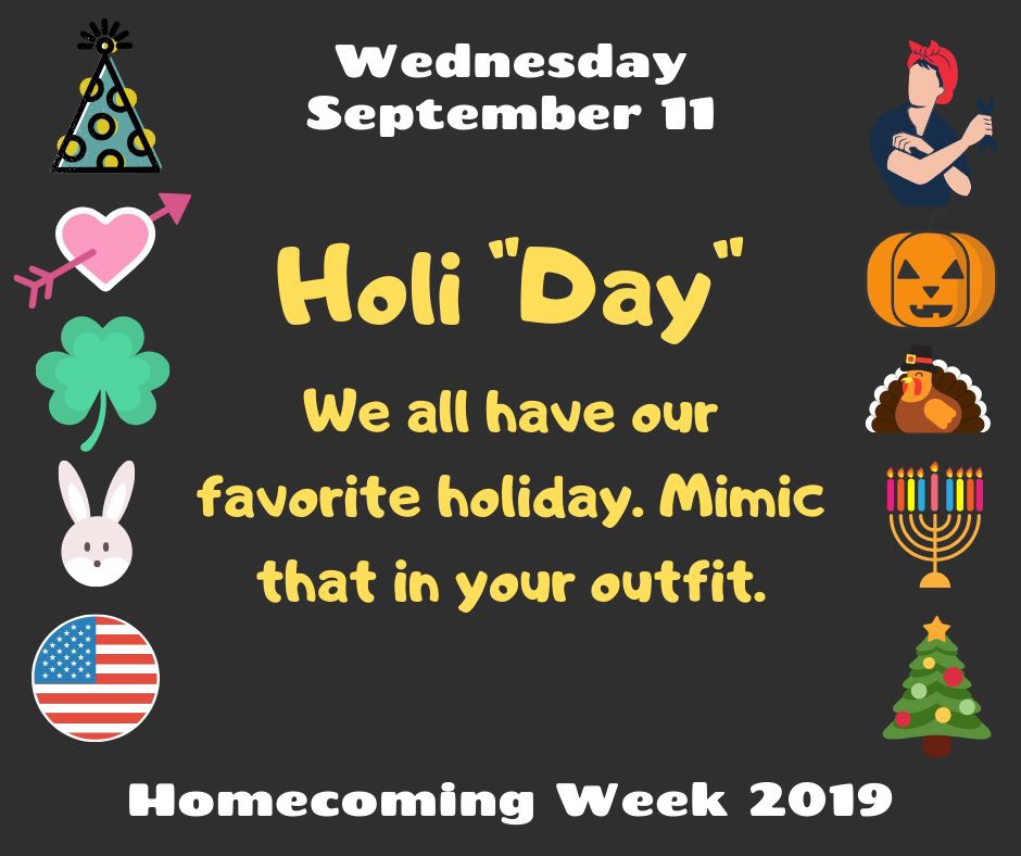 "Wednesday Dress Up Holi ""Day"""